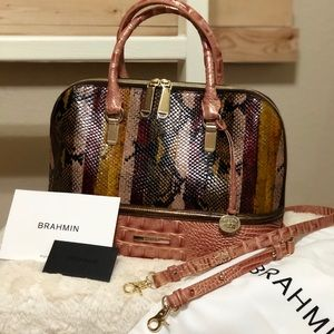 NWT BRAHMIN Miramar Vivian Dome handbag w/ straps